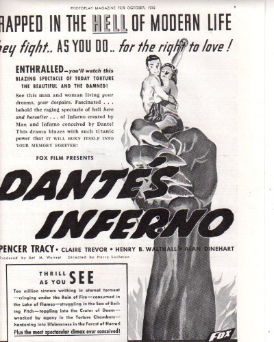 Dante's Inferno Movie ad Clipping Magazine Photo orig 1pg 8x10 Photo K9667 from Fabulous Hollywood Memories