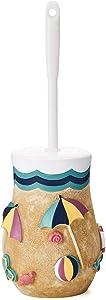 JYXR HOME&LIVING Toilet Brush, Beach Theme Toilet Bowl Cleaner Brush with Holder for Bathroom Decor