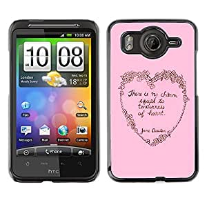 MOBMART Carcasa Funda Case Cover Armor Shell PARA HTC G10 - Pink Tenderness Of The Heart