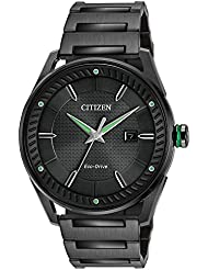 Citizen Mens Eco-Drive Black And Green Watch