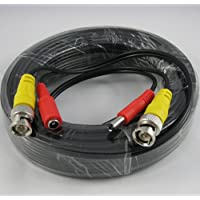 25ft AWG24 Premade Siamese CCTV Video + Power Cable