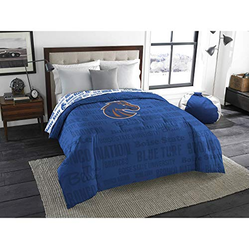 Northwest NFL New York Giants 5pc Bedding Set: Includes (1) Twin/Full Comforter, (1) Blanket, (2) Throws, and (1) Toss Pillow