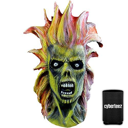 Iron Maiden Eddie Costume (IRON MAIDEN Eddie First Album Killers Men's Latex Costume Overhead Mask + Coolie)