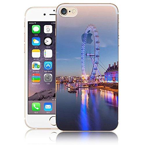Funda para iPhone 7 8, Vandot TPU Silicona Pintado Funda para iPhone 7 8 Patrones de Pintura Case Suave Flexible Silicone Gel Paisaje Cajas de Teléfono móvil para iPhone 7 / iPhone 8 4.7 - Volcán y E Scenery 05