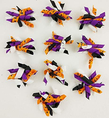 FidgetFidget Ribbon Hair Bows 10-100pcs Halloween Party for Pet Cat Dog Korker,100pcs