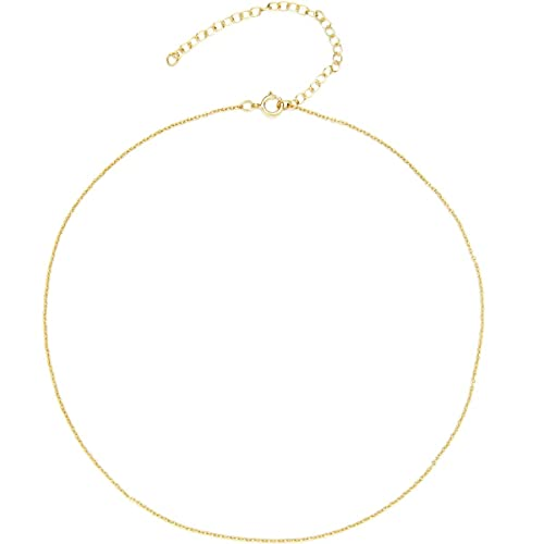 f0cf2ac2ca49ab BENIQUE Dainty Thin Chain Choker Long Necklace for Women Girls - 925 Sterling  Silver, 14K Gold Filled, Rose Gold Filled, Dainty Strong Durable  Lightweight ...
