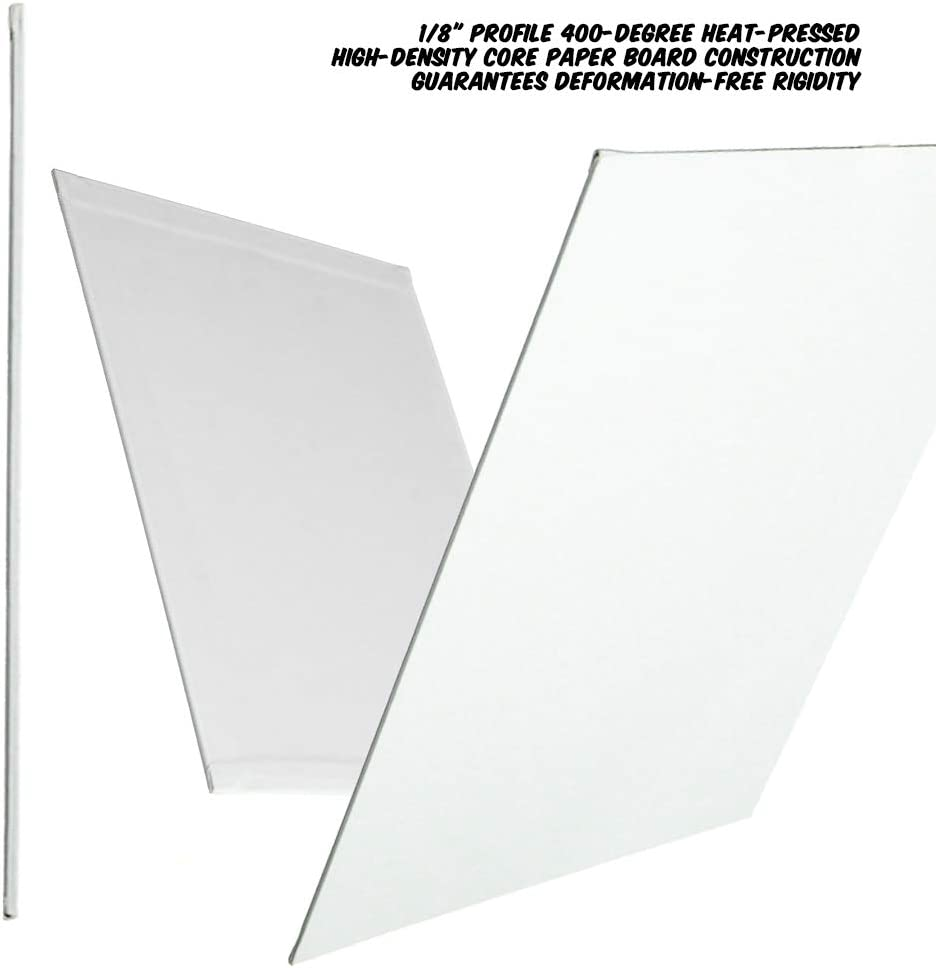Markin Arts Juliet Heat Pressed Hi-Density Acid//Discolor Free 100/% Cotton Medium Weight 10oz Triple Titanium Acrylic Gesso Primed Horizontal Vertical Art Canvas Panel Board Oil Paint 8x16 5-Pack