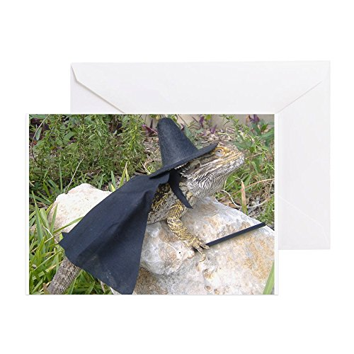 CafePress Spiny The Lizard Wizard Greeting Card, Note Card, Birthday Card, Blank Inside Matte -