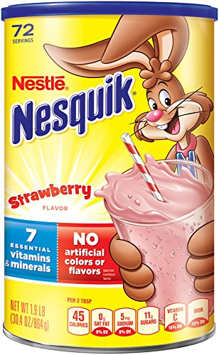Nestle Nesquik Flavored Powder Strawberry 1.9 lbs