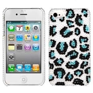 MYBAT IPHONE4HPCBKPRLDM604WP Premium Pearl Diamante Case for iPhone 4 - 1 Pack - Retail Packaging - Black/Blue...