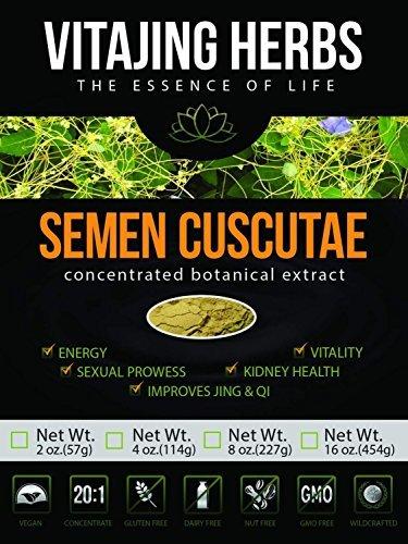 Semen Cuscutae Extract 20:1 CONCENTRATION Powder (2oz - 57gm) Cuscuta seed, Chinese Dodder seed, Tusizi, Tu Si Zi, Shen Nong Ben, Cao Jing by (Dodder Seed)