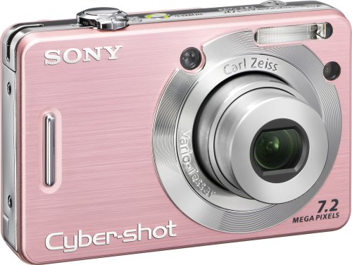 (Sony Cybershot DSCW55 7.2MP Digital Camera with 3x Optical Zoom (Pink) (OLD MODEL))