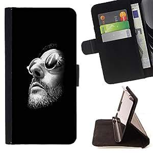 - Good View - - Monedero PU titular de la tarjeta de cr?dito de cuero cubierta de la caja de la bolsa FOR Sony Xperia Z1 L39 Retro Candy