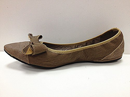 Women's Ballerinas Flat Shoes Loafers 985-72Taupe yc0ElX