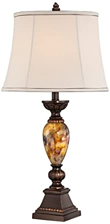 Kathy Ireland Home Mulholland 30u0026quot; Marbleized Table Lamp