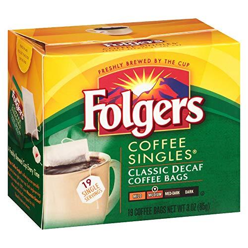 Folgers Classic Medium Roast Decaf Coffee, 19 Count Singles Serve (Pack of 4)