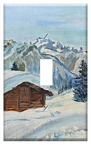 Switch Plate Single Toggle - Chalets Haute-Savoie Mountain Snow Calm