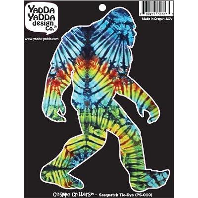 "Yadda-Yadda Design Co. Rainbow Tie Dye Sasquatch - Bigfoot - Tie-Dye - Peel and Stick Decal Sticker - Copyright 2016 [4"" w x 6"" h]: Toys & Games"