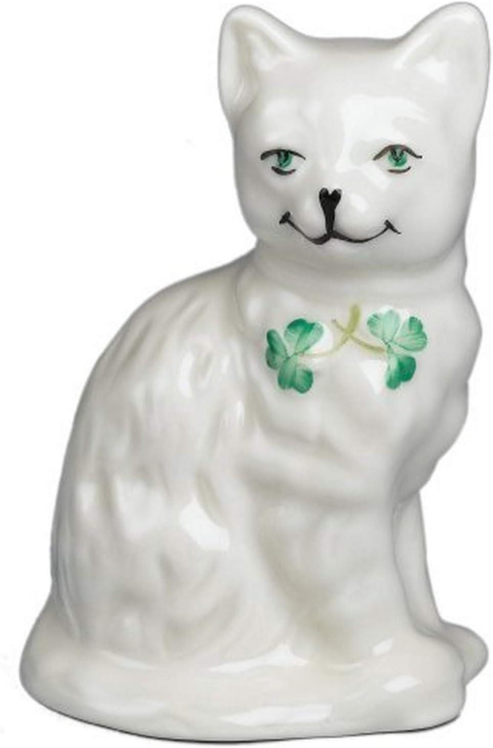 Belleek Quizical Cat