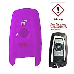 Rotsale 1x Violett Schlusselhulle Fur Bmw Autoschlussel Silikon