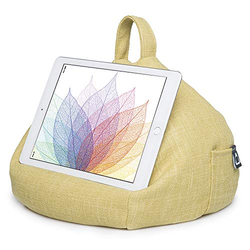 iPad Pillow & Tablet Stand - Securely Holds Any Size Tablet, eReader or Book Upto 12.9 inches, Hands Free Comfort at Any Angle on Any Surface - Citrus, by iBeani