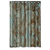Cheap Custom Rustic Old Barn Wood Polyester Fabric Window Curtain 50″X84″(One Piece) With Holes To Which Rings Attach