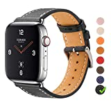 Marge Plus Compatible with Apple Watch Band 38mm 40mm 42mm 44mm, Premium Genuine Leather Replacement for iWatch Band Series 5/4/3/2/1
