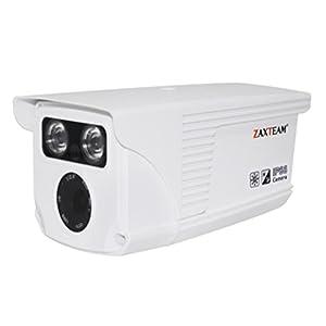 ZAXTEAM surveillance IP 1/4' HD 720P IP Camera 4mm Zoom lens High Resolution 2pcs Array IR LED IR Cut Night Vision Exterior/Interior Camera White