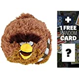 """Chewbacca: ~5"""" Angry Birds Star Wars Mini-Plush Series (No Sound) + 1 FREE Angry Birds Trading Card Bundle"""