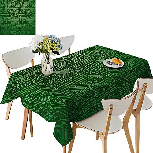 (UHOO2018 Eco-Friendly and Safe Art Backdrop with Circuit Board Diagram Hardware Wire Illustration Emerald Fern Green Square/Rectangle Multi Colors & Sizes,54 x120inch.)