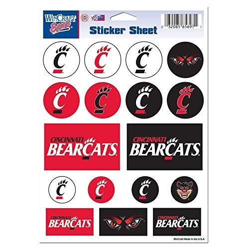 "Cincinnati, University of Vinyl Sticker Sheet 5"" x 7"""
