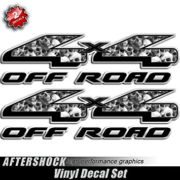 Amazoncom X Skull Truck Decal Off Road Sticker Decals Sports - Truck decals