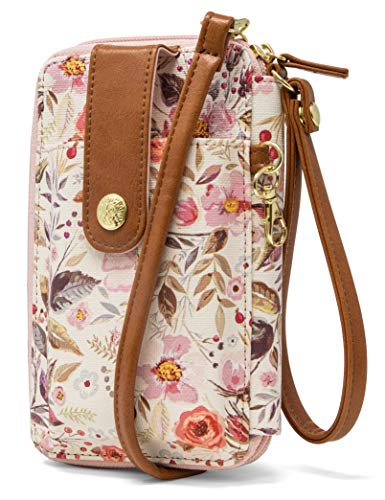 MUNDI Jacqui Vegan Leather RFID Womens Crossbody Cell Phone Purse Holder Wallet (Whimsical)