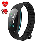 COSVII Fitness Tracker Color Screen with Heart Rate Monitor, Pedometer, Blood Pressure Monitor,Sleep Monitor, Calorie Counter, Waterproof Android IOS Smart Watch for Women Men Kids