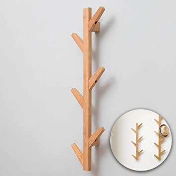 3 Tier 7 Hooks Bamboo Coat Hat Rack Stand Bag Hanger Shoe Shelf Storage Holder