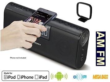 Sony ICF-CS20BT - 2, 1CH Bluetooth y NFC altavoz con reloj de alarma Dual radio Digital (AM/FM estéreo): Amazon.es: Electrónica