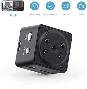 GXSLKWL Super Night Vision Portable Small Wireless Surveillance Camera, Perfect Hidden Camera Hidden Spy Camera Wireless 1080P Home Security Nanny Camera (Color : +16G Memory Card)