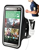 Black Protective Gym Running Cycling Jogging Sport Armband Case for Sony Xperia C & E & E1 & E3 & J & L & M & M2 & M2 Aqua & P & S & sola & M2 Aqua & E3 & Z3 Compact & E4 & E4g & M4 Aqua Smartphone