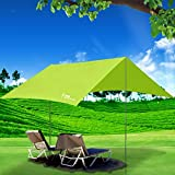 Li Na Home tent Outdoor Pergola Sun Silver Anti-UV Camping Tent Large folding awning Car cloth (Color : Green, Size : 300cm(118 inches))