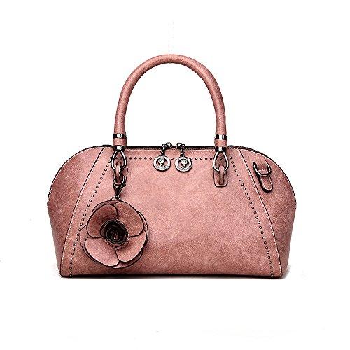 Style Portable Rétro Boulettes Fashion Dames Sac Marée Style Main De Fashion à Sacs Pink AJLBY Paquet Advz0wqd