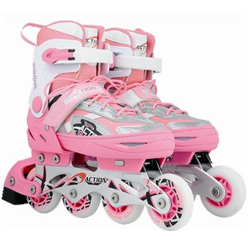 Atipick Power Red - In line de hockey sobre patines Rosa