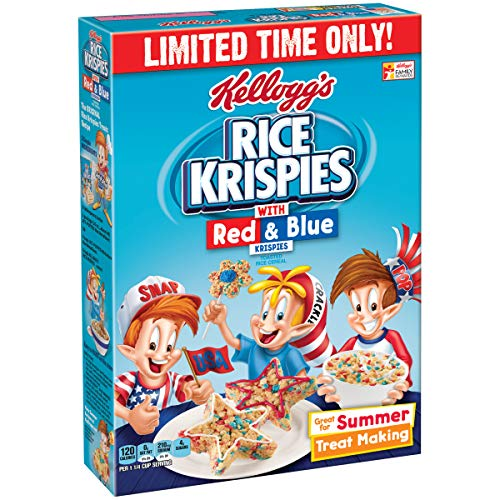Rice Krispies with Red and Blue Krispies (9-Ounce Box)]()