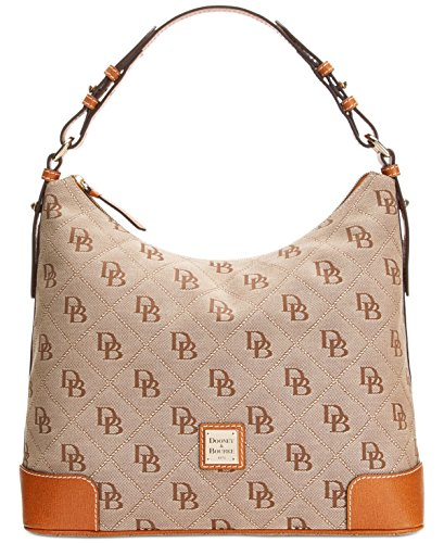 Dooney & Bourke Americana Signature Large Erica Hobo,Natural