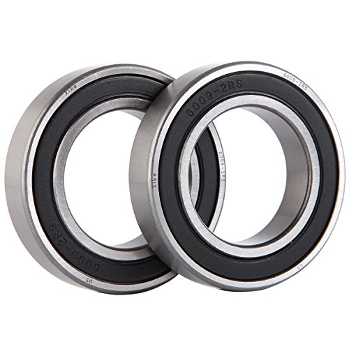 XiKe 2 Pack 6009-2RS Bearings 45x75x16mm, Stable Performance and Cost-Effective, Double Seal and Pre-Lubricated, Deep Groove Ball Bearings. by XiKe