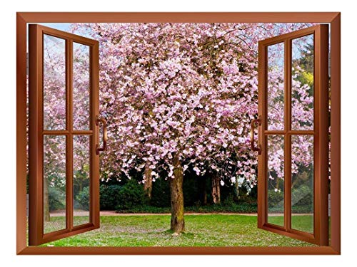 Sakura Flowers Blooming Removable Wall Sticker Wall Mural