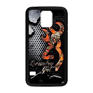 Perfect Collection Browning Cutter Logo HD Image Custom Case Cover of Samsung Galaxy S5 (Laser Technology)