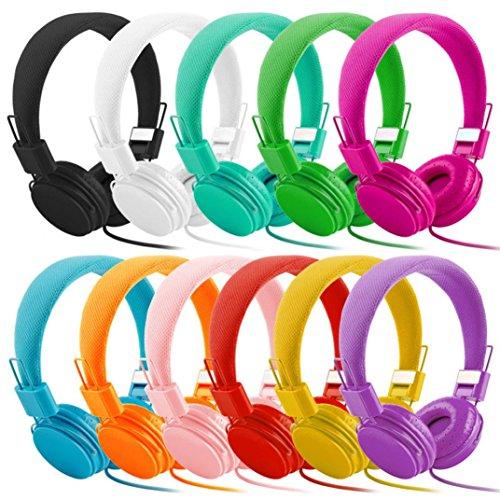 Nacome Headphones,Adjustable Foldable Kid Wired Headband Ear