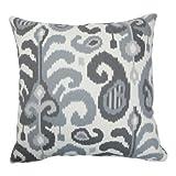 The Pillow Collection Scebbi Ikat Floor Pillow Steel
