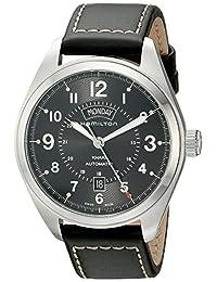 Hamilton Men's H70505733 Khaki Field Analog Display Automatic Self Wind Black Watch