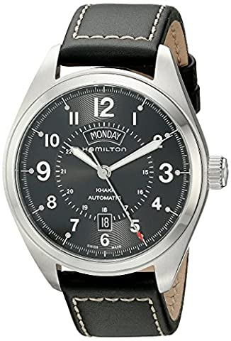 Hamilton Men's H70505733 Khaki Field Analog Display Automatic Self Wind Black Watch (Hamilton Khaki Field Automatic)